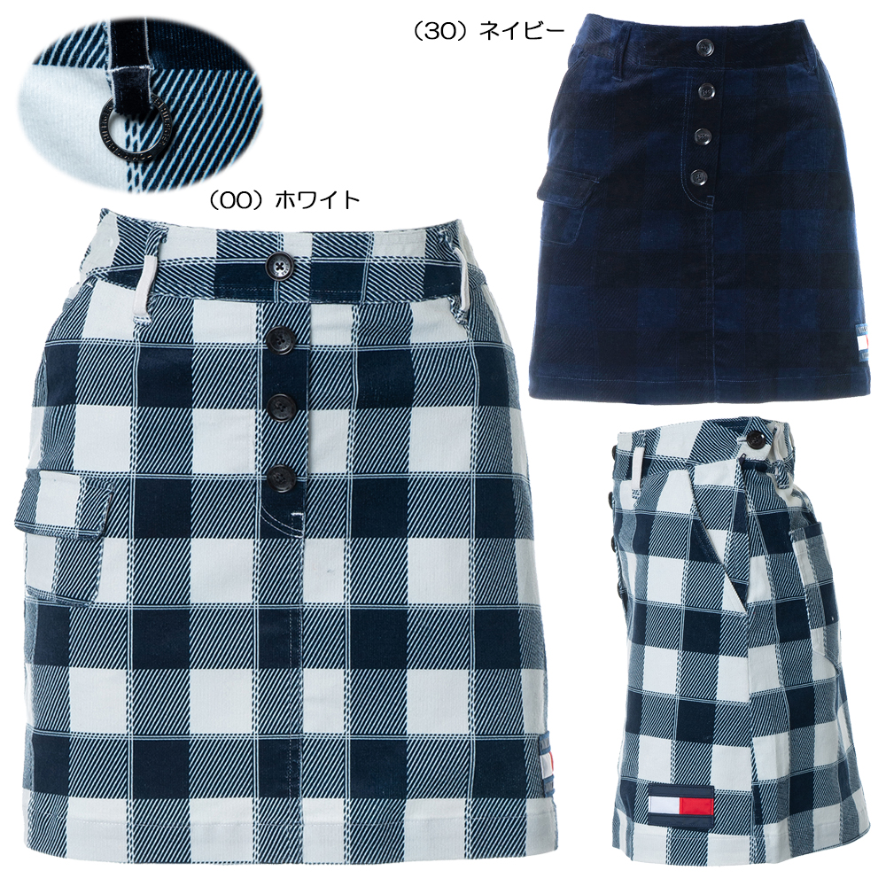 Tommy Hilfiger(トミーヒルフィガー)/ 【レディース】2019秋冬 TH CORDUROY CHECK SKIRT THLA983